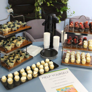 Gluten free muffins and cupcakes were proudly provided by The Columbia Street Sandwich Company during the 2018 Boucher Open House